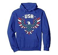 Patriotic American Flag Bald Eagle Usa T Shirt  Hoodie Royal Blue