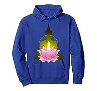 Funny Buddha Lotus Flower Spiritual Zen Meditation Yoga Gift T-shirt Hoodie Royal Blue