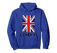 London, England Union Jack Shirts Hoodie Royal Blue