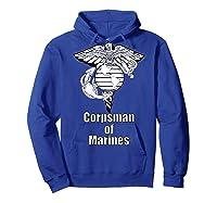 Back Design 8404 Fmf Corpsman Military Veteran Shirts Hoodie Royal Blue