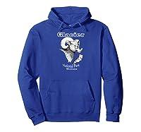 Glacier National Park. Bighorn Ram. Montana T-shirt Hoodie Royal Blue