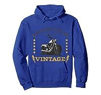 Vintage Motorcycle Bike Rocker Bike Club T-shirt Hoodie Royal Blue