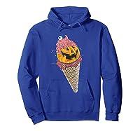 Halloween Pumpkin Ice Cream T-shirt Hoodie Royal Blue