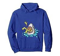 Shark Eats Zombie Funny Halloween Girls Shirts Hoodie Royal Blue