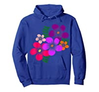 Blooming Flower, Blooms, Blossoms, Garden, Bunch Of Flowers T-shirt Hoodie Royal Blue