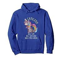 Caticorn Magical Unicorn Cat Animal Lover Gift Shirts Hoodie Royal Blue