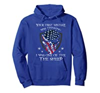 Your First Mistake Was Thinking I Was One Of The Sheep Skull Premium T-shirt Hoodie Royal Blue