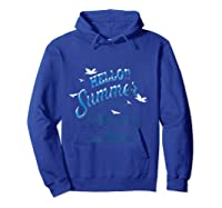 Maglietta Hello Summer Shirts Hoodie Royal Blue