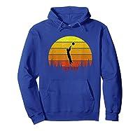 Basketball Coach Jump Shot Retro Vintage Sunset Shirts Hoodie Royal Blue