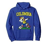 Dabbing Soccer Colombia Unicorn Colombian Football Shirts Hoodie Royal Blue