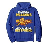 Funny Bearded Dragon Herping Girl Best Friend T-shirt Lizard T-shirt Hoodie Royal Blue