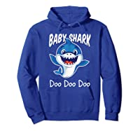 Baby Shark Doo Doo Birthday Party Gifts Girl Boy Out T-shirt Hoodie Royal Blue