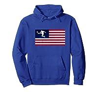 Soccer Us Flag American Football Gift Shirts Hoodie Royal Blue