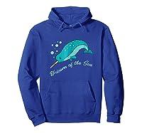 Narwhal Unicorn Of The Sea Fun Cute Shirts Hoodie Royal Blue