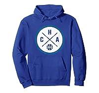 Classic Charlotte Basketball Cha Outline T-shirt Hoodie Royal Blue