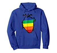 Rainbow Anatomical Lgbt Flag Heart Shirts Hoodie Royal Blue