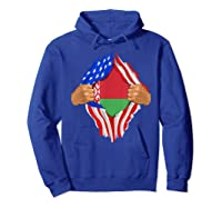 Belarusian Blood Inside Me Belarus Flag Gift Shirts Hoodie Royal Blue