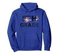 5th Grade Floral T-shirt Back To School Tea Flower Gift Hoodie Royal Blue