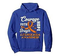 Leukemia Awareness Warrior Wear Orange Hope Gifts Shirts Hoodie Royal Blue