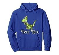 Tree Rex Funny Dino Christmas Lights Shirts Hoodie Royal Blue