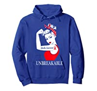Stroke Survivor Unbreakable Strong Shirts Hoodie Royal Blue