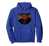 San Antonio Vinyl Record Hipster Musical San Antonio Skyline T-shirt Hoodie Royal Blue
