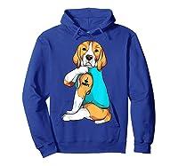 Beagle I Love Mom Apparel, Dog Mom Gifts Shirts Hoodie Royal Blue