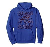 Sesame Street Crunch Characters T Shirt Hoodie Royal Blue