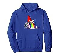 Rainbow Puking Gnome Gravity Inspired Big Dipper Falls Ts Shirts Hoodie Royal Blue