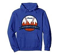 Vintage Retro Houston City Skyline Baseball Tshirt Hoodie Royal Blue