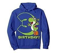Super Mario Yoshi 3rd Birthday Action Portrait T-shirt Hoodie Royal Blue