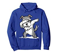 Schnauzer Cute Dabbing Funny Dab Dance Gif Shirts Hoodie Royal Blue