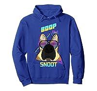 Vaporwave 80's Style Pet Dog Boop That Snoot German Shepherd Shirts Hoodie Royal Blue