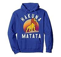 Disney The Lion King Simba Hakuna Matata Pride Rock Portrait Premium T-shirt Hoodie Royal Blue