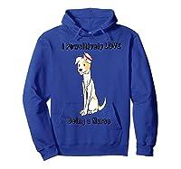 Dog Lover Nursing Cute Animal Lover Puppy Nurse Shirts Hoodie Royal Blue