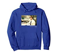 The Office Jim Smirking With Quote Shirts Hoodie Royal Blue