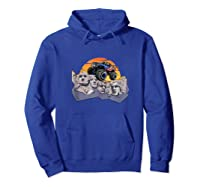 Mount Rushmore Monster Truck Retro Vintage Sunset Shirts Hoodie Royal Blue