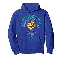 Tree Of Life Shanti Patha Om Yoga Prayer Shirts Hoodie Royal Blue