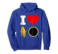 Cornhole Shirts For And . I Love Cornhole Tee Hoodie Royal Blue