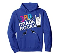 3rd Grade Rocks, 1st Day Of School Shirt Students Teas Hoodie Royal Blue