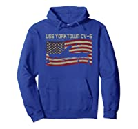 Uss Yorktown Cv-5 Gift For A Us Military Veteran T-shirt Hoodie Royal Blue