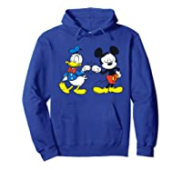 Disney Mickey Mouse And Donald Duck Best Friends T-shirt Hoodie Royal Blue