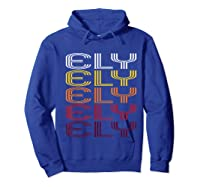 Ely, Nv Vintage Style Nevada Shirts Hoodie Royal Blue