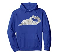 Kentucky Horse Map Horseback Riding Equestrian Gift T-shirt Hoodie Royal Blue