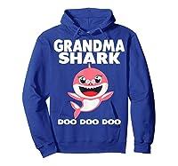 Grandma Shark Doo Doo Shirt For Matching Family Pajamas T-shirt Hoodie Royal Blue
