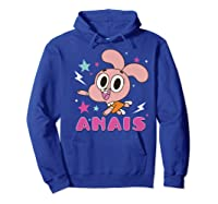The Amazing World Of Gumball Anais Portrait Shirts Hoodie Royal Blue