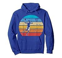Vintage Basketball Retro Vintage Style Basketball Gift Shirts Hoodie Royal Blue