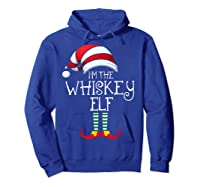 I'm The Whiskey Elf Family Matching Christmas Gift Group Shirts Hoodie Royal Blue