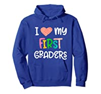 1st Grade Tea Love First Graders School Class Colorful Shirts Hoodie Royal Blue