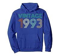 26th Birthday Gift Idea Vintage 1993 T-shirt Distressed Hoodie Royal Blue